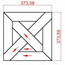 Модульный паркет Lab Arte массив 9-70 Дуб рустик 373x373x15