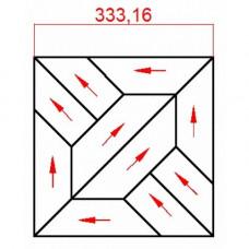 Модульный паркет Lab Arte массив 8-70 Дуб рустик 333x333x15