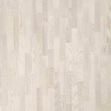 Паркетная доска Polarwood Трехполосная Ясень Ливинг белый матовый
